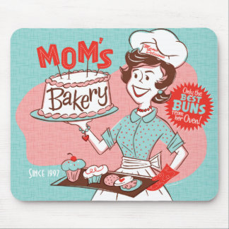 Mom's Bakery Retro Mother's Day Mousepad