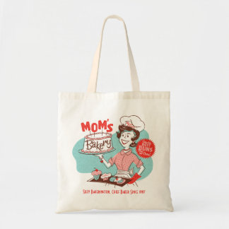 Mom's Bakery Retro Mother's Day Tote Bags