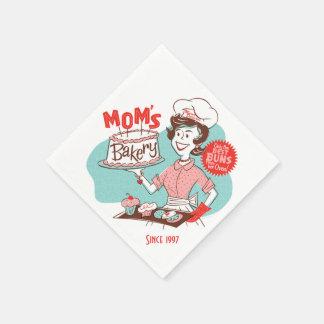 Mom's Bakery Retro Paper Napkins (CUSTOMIZABLE)