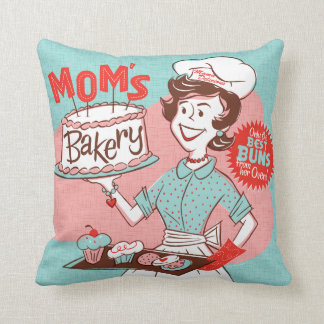 Mom's Bakery Retro Pillow — SQUARE