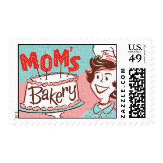 Mom's Bakery Retro Postage
