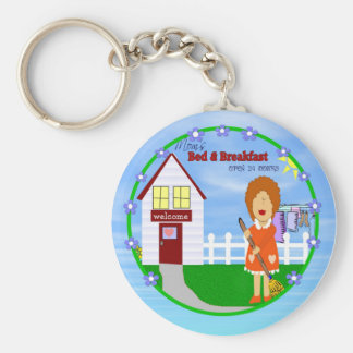 Mom's Bed and Breakfast Keychain
