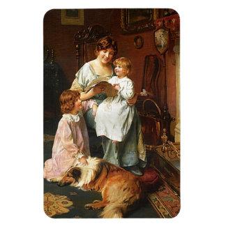 Mom's Bedtime Story l For Mothers Rectangular Photo Magnet