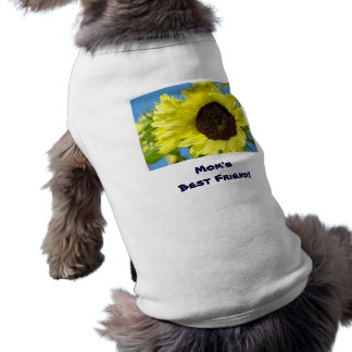 Mom's Best Friend! Dog shirts custom Sunflowers Dog Tee