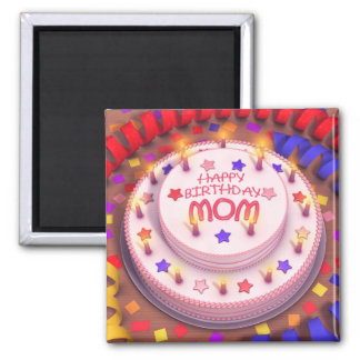 Mom's Birthday Cake Magnet