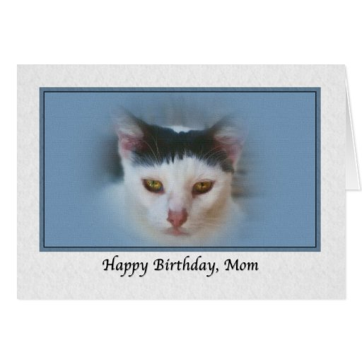 Mom's Birthday Card with Cat