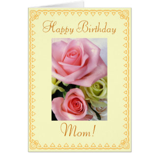 Mom's Birthday flowers Card