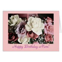 Mom's birthday roses-pastel colors card
