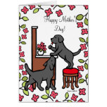 Mom's Black Lab Puppy Duo Cards