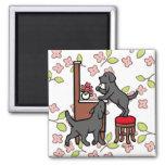 Mom's Black Lab Puppy Duo Refrigerator Magnets