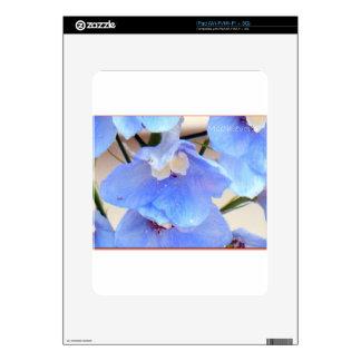 Mom's Blue Flowers I Pad Skin iPad Skins