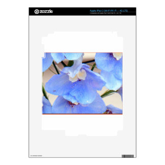 Mom's Blue Flowers Skins for I - Pad 3 Skins For iPad 3
