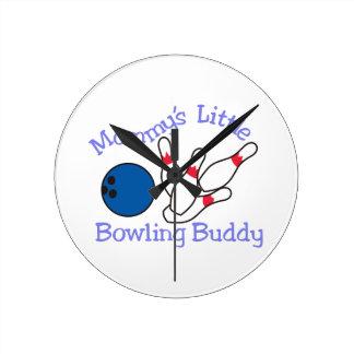 Moms Bowling Buddy Round Clock