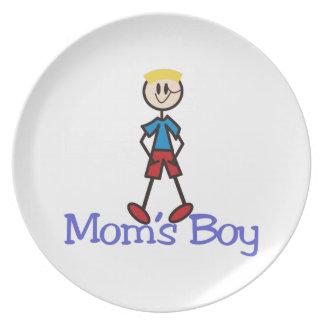 Moms Boy Plate