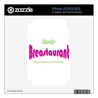 Mom's Breastaurant iPhone 3GS Decal