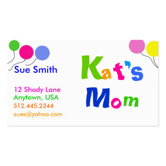 Mom's Business card