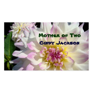 Mom's Business Cards Mother of Two Pink floral