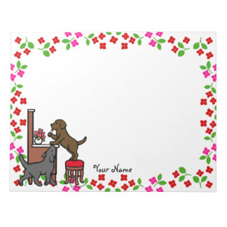 Mom's Chocolate Lab and Black Lab Memo Notepad