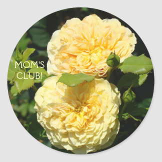 MOM'S CLUB! Stickers Yellow Roses stickers