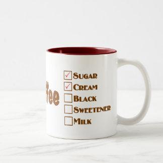 Mom's Coffee Cream & sugar made perfect coffee mug