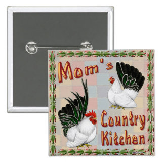 Mom's Country Kitchen Pinback Buttons
