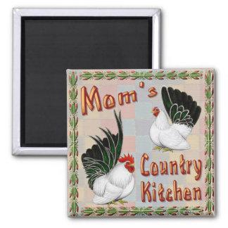 Mom's Country Kitchen Fridge Magnet