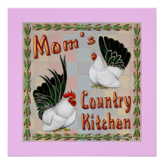 Mom's Country Kitchen Poster