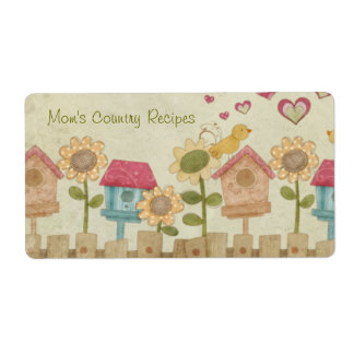 Mom's Country Recipes Shipping Label
