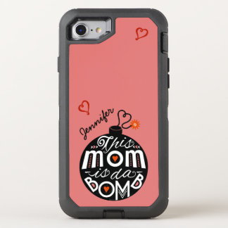 Moms da Bomb Cute Typography Mothers Day OtterBox Defender iPhone 7 Case