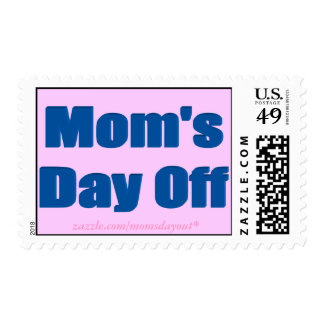 Mom's Day Off Navy Font Postage Stamps