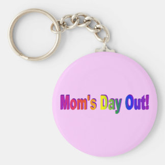 Moms Day Out Basic Round Button Keychain