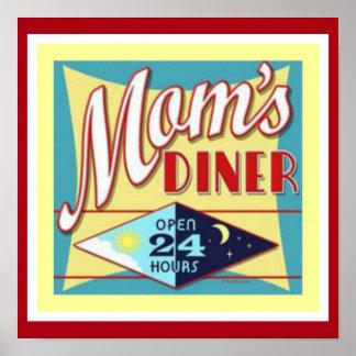 Mom's Diner 12 x 12 Poster