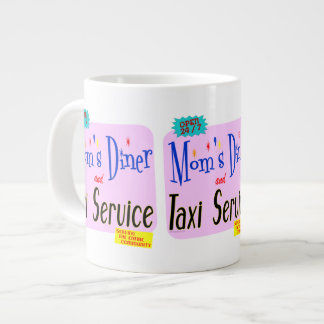 Moms Diner and Taxi Service Retro Saying Large Coffee Mug