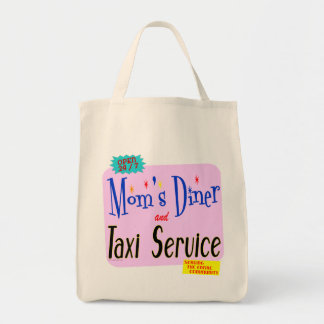 Moms Diner and Taxi Service Saying Tote  Bag