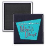 Moms Diner: Breastfeeding 2 Inch Square Magnet