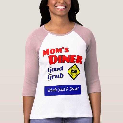 Mom's Diner Custom Retro Saying Shirts
