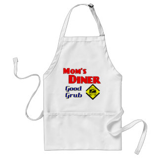 Mom's Diner Good Grub Retro Restaurant Adult Apron