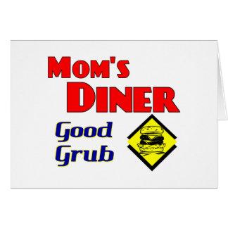 Mom's Diner Good Grub Retro Restaurant Card