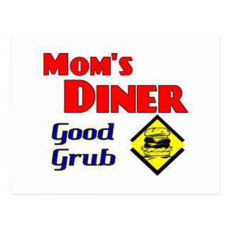 Mom's Diner Good Grub Retro Restaurant Postcard