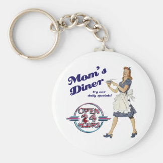 Mom's Diner Keychain