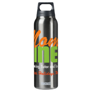 Mom's diner, maid, banking, tutor, and taxi servic 16 oz insulated SIGG thermos water bottle