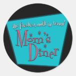 Mom's Diner Retro Pro-Breastfeeding Design Round Sticker