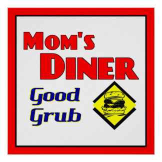 Mom's Diner Retro Restaurant Art Print