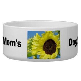 Mom's Dog! bowl water food bowls Sunflowers Dog Food Bowls