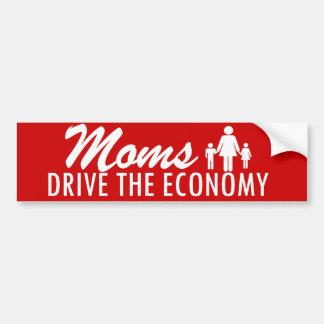 Moms Drive the Economy Car Bumper Sticker
