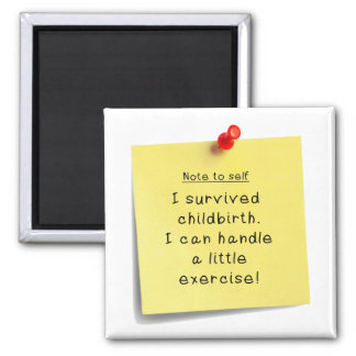 Mom's Exercise New Year Resolution Funny Magnet