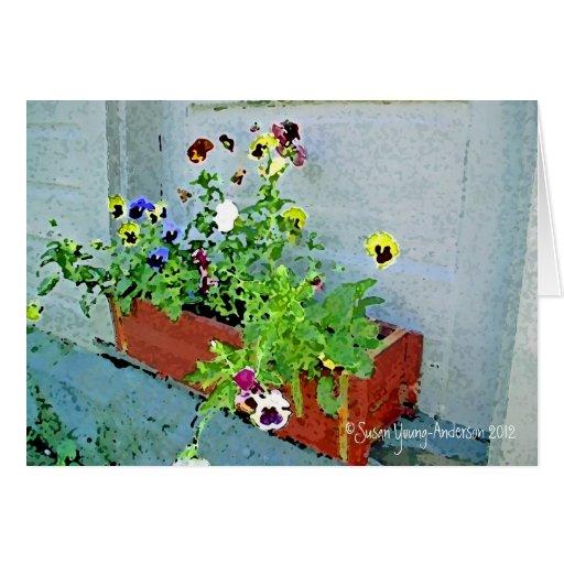 Mom's Farm Flowers Greeting Card