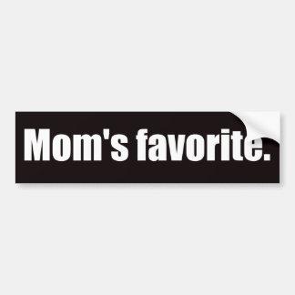 Mom's Favorite Bumper Sticker
