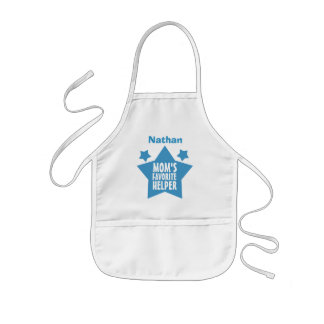 MOM'S Favorite Helper with Name with STARS V08 Kids' Apron