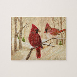 Mom's Favorite Redbirds Jigsaw Puzzle